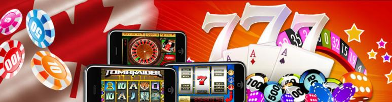 777 canada online casino with canadian flag and casino chips with mobile gameplay